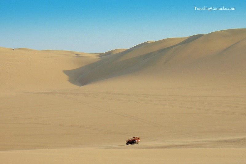 Travel Photo Roulette giant-sand-dunes-Huacachina-Peru-traveling-canucks