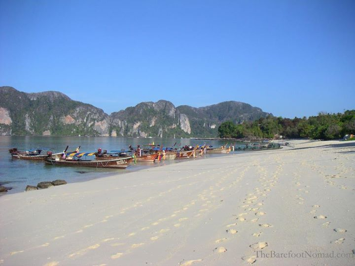 Beautiful Long Beach on Ko Phi Phi in Thailand opportunity and sacrifice