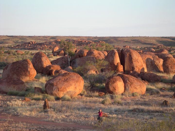 Micki at the Devils Marbles Australia opportunity and sacrifice