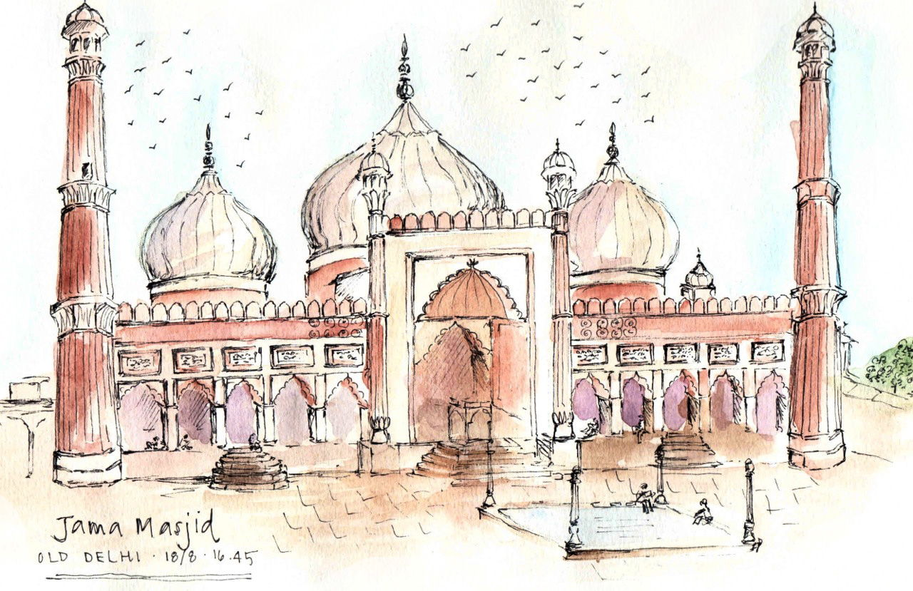 Sketching The Subcontinent sketch_delhi