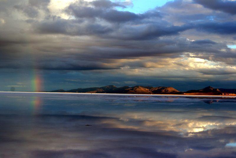 Travel Photo Roulette Sunrise Over the Salt Flats in Bolivia - Gotta Keep Movin