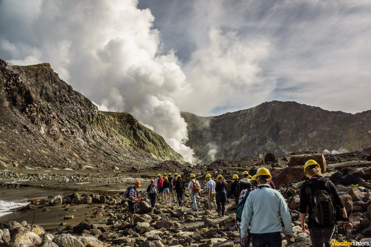 Hiking Across An Active Volcano