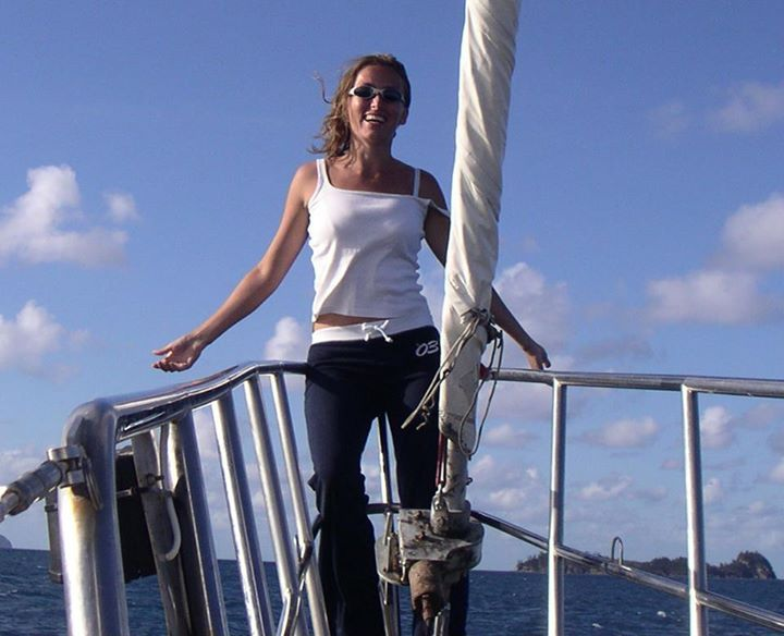 Micki Sailing in the Whitsundays Australia opportunity and sacrifice