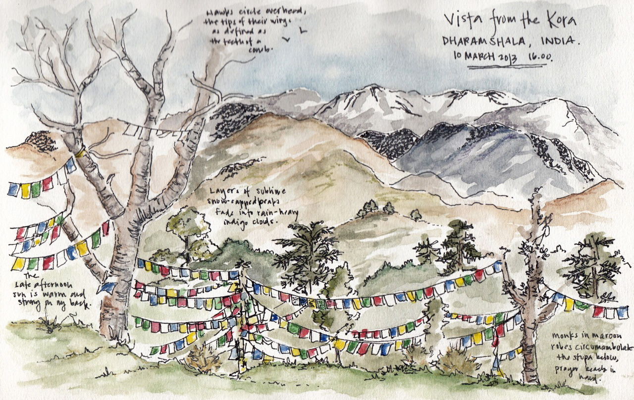 Sketching The Subcontinent sketch_dharamsala