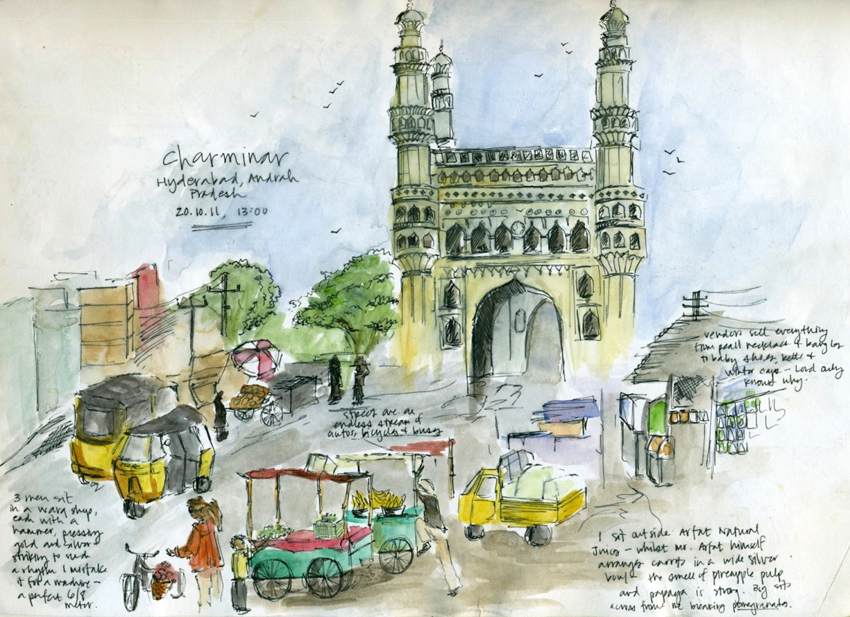 Sketching The Subcontinent sketch_hyderabad