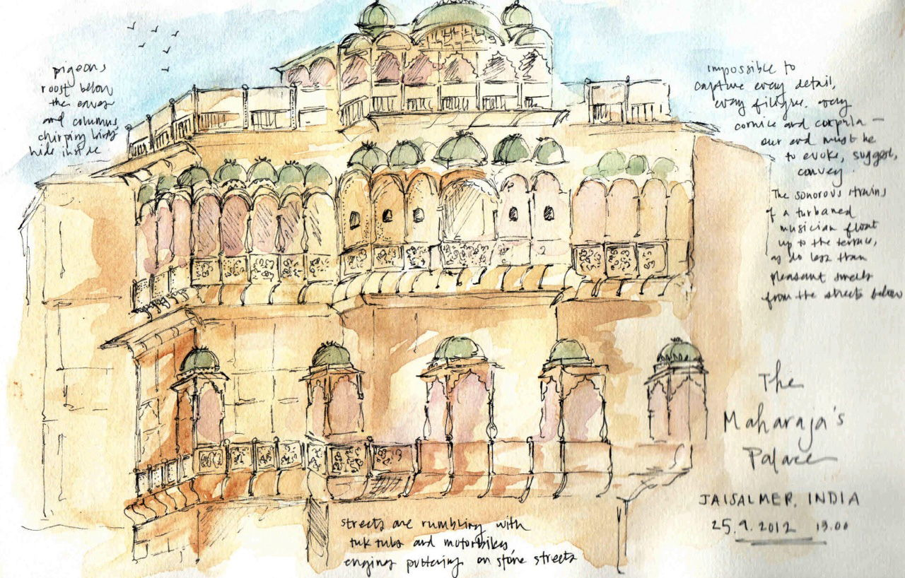 Sketching The Subcontinent sketch_jaisalmer