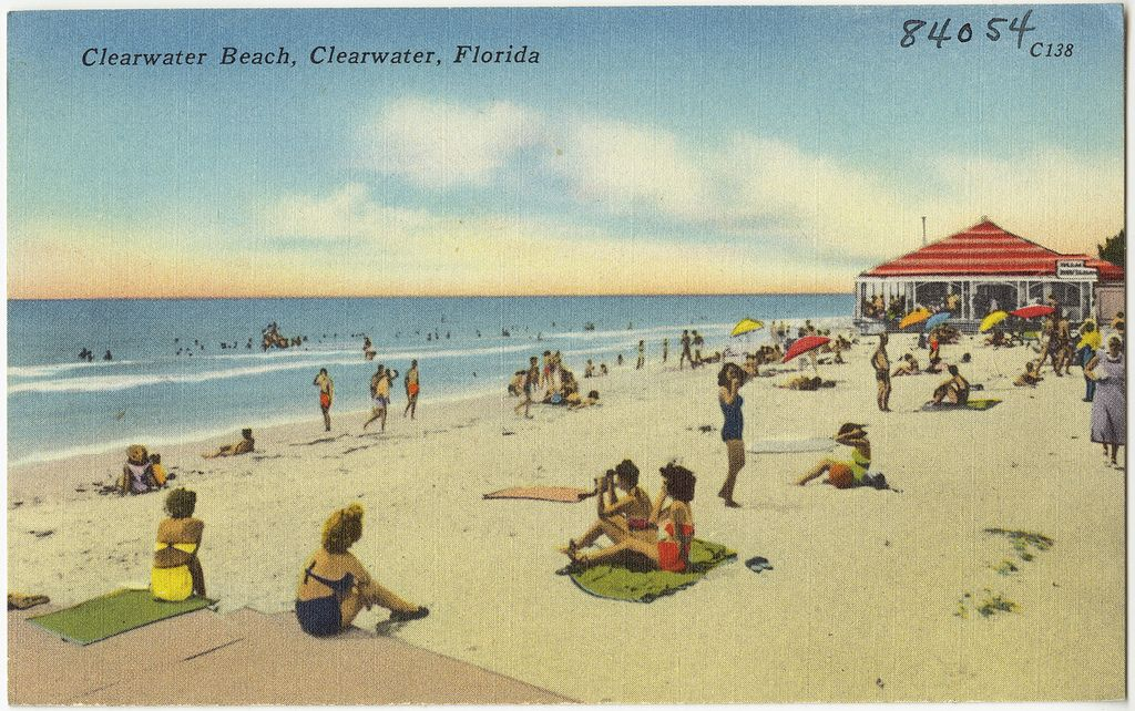 beach-scene-clearwater-beach-postcard Clearwater Beach Travel Tips