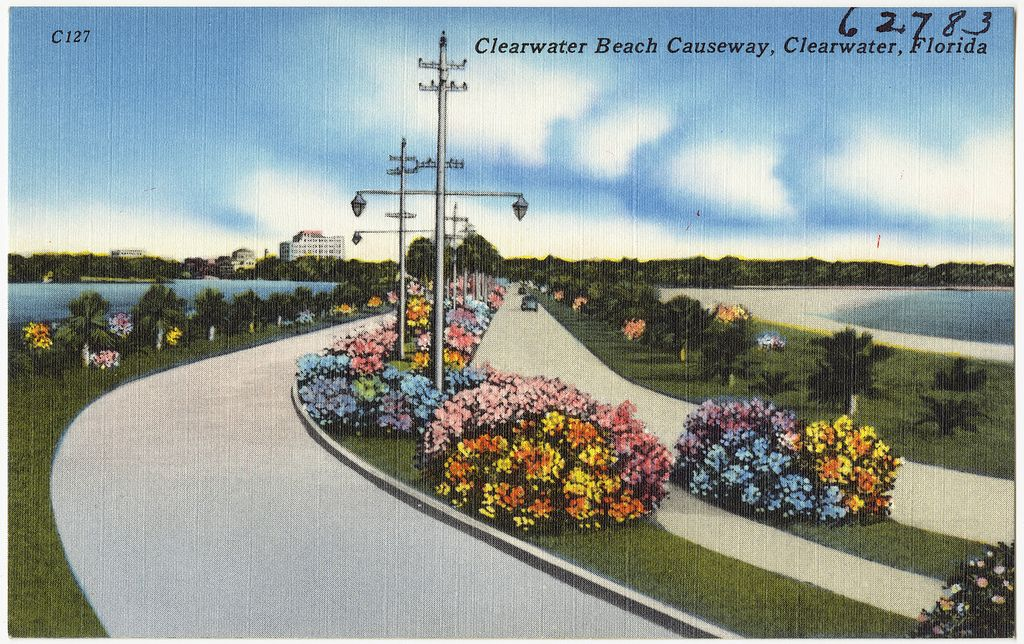 clearwater-beach-causeway-postcard Clearwater Beach Travel Tips