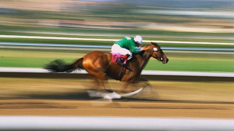 blur-horse-racing