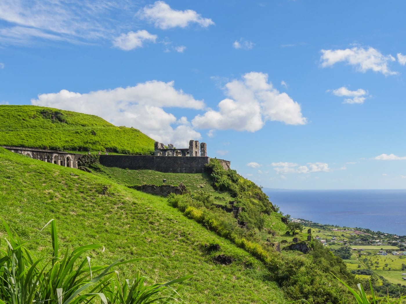 brimstone hill fortress view st kitts