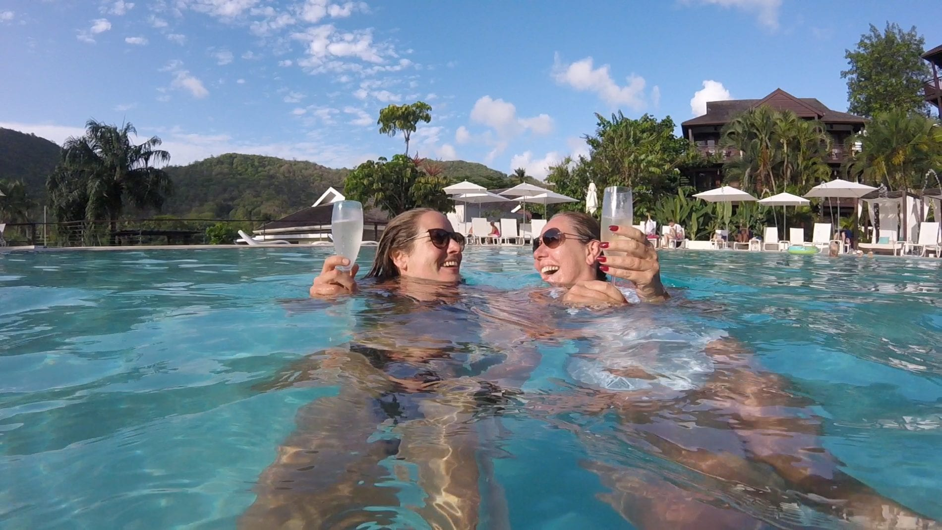 staying at marigot bay resort and marina in st lucia