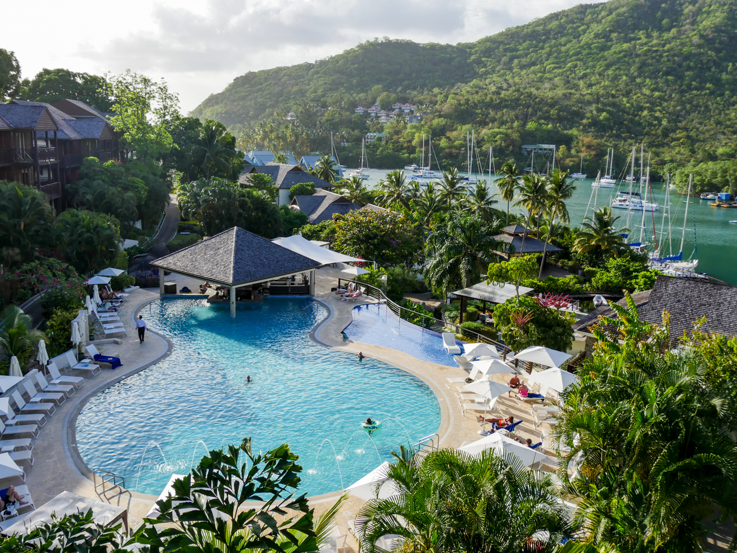 Staying at marigot bay resort and marina in st lucia for Sand point lodge