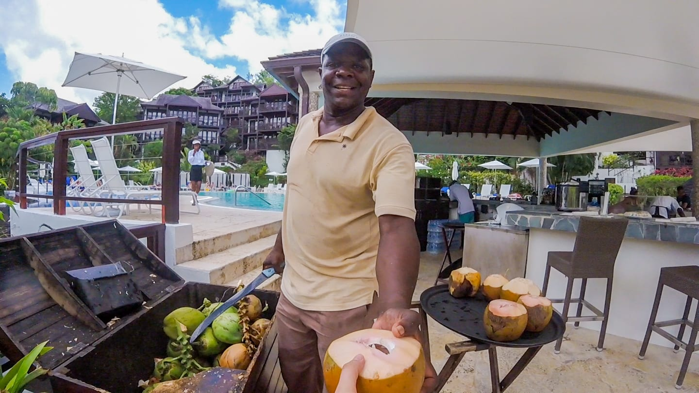 marigot-bay-resort-staff-coconut